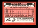 1986 Topps Traded #58 T Pete Ladd  Back Thumbnail