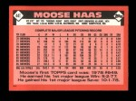 1986 Topps Traded #44 T Moose Haas  Back Thumbnail
