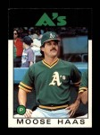 1986 Topps Traded #44 T Moose Haas  Front Thumbnail