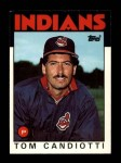 1986 Topps Traded #18 T Tom Candiotti  Front Thumbnail