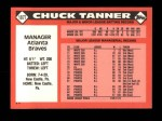 1986 Topps Traded #107 T Chuck Tanner  Back Thumbnail