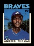 1986 Topps Traded #111 T Andres Thomas  Front Thumbnail