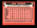 1986 Topps Traded #114 T Jay Tibbs  Back Thumbnail