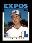1986 Topps Traded #114 T Jay Tibbs  Front Thumbnail