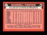 1986 Topps Traded #88 T Darrell Porter  Back Thumbnail