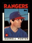 1986 Topps Traded #88 T Darrell Porter  Front Thumbnail