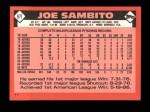 1986 Topps Traded #97 T Joe Sambito  Back Thumbnail