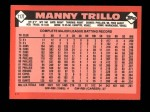 1986 Topps Traded #117 T Manny Trillo  Back Thumbnail
