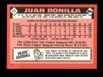 1986 Topps Traded #13 T Juan Bonilla  Back Thumbnail