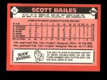1986 Topps Traded #5 T Scott Bailes  Back Thumbnail