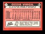 1986 Topps Traded #119 T Ozzie Virgil  Back Thumbnail