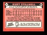 1986 Topps Traded #104 T Kurt Stillwell  Back Thumbnail