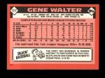 1986 Topps Traded #121 T Gene Walter  Back Thumbnail
