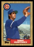 1987 Topps Traded #73 T Dave Martinez  Front Thumbnail