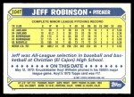 1987 Topps Traded #104 T Jeff M. Robinson  Back Thumbnail