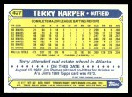 1987 Topps Traded #42 T Terry Harper  Back Thumbnail