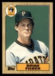 1987 Topps Traded #33 T Brian Fisher  Front Thumbnail