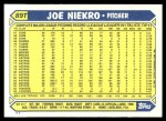 1987 Topps Traded #89 T Joe Niekro  Back Thumbnail
