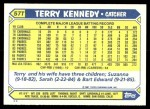 1987 Topps Traded #57 T Terry Kennedy  Back Thumbnail