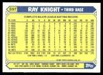 1987 Topps Traded #59 T Ray Knight  Back Thumbnail