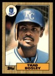 1987 Topps Traded #7 T Thad Bosley  Front Thumbnail