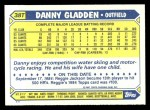 1987 Topps Traded #38 T Dan Gladden  Back Thumbnail