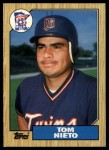 1987 Topps Traded #90 T Tom Nieto  Front Thumbnail