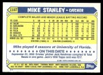 1987 Topps Traded #116 T Mike Stanley  Back Thumbnail