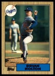 1987 Topps Traded #49 T Brian Holton  Front Thumbnail