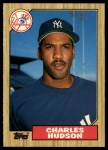 1987 Topps Traded #50 T Charles Hudson  Front Thumbnail
