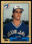 1987 Topps Traded #83 T Jeff Musselman  Front Thumbnail