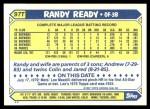 1987 Topps Traded #97 T Randy Ready  Back Thumbnail