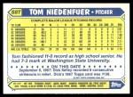 1987 Topps Traded #88 T Tom Niedenfuer  Back Thumbnail