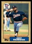 1987 Topps Traded #98 T Jeff Reardon  Front Thumbnail