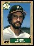 1987 Topps Traded #84 T Gene Nelson  Front Thumbnail