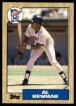 1987 Topps Traded #86 T Al Newman  Front Thumbnail