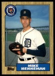 1987 Topps Traded #46 T Mike Henneman  Front Thumbnail