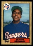 1987 Topps Traded #11 T Jerry Browne  Front Thumbnail