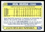 1987 Topps Traded #45 T Neal Heaton  Back Thumbnail