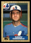 1987 Topps Traded #17 T Casey Candaele  Front Thumbnail