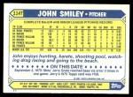 1987 Topps Traded #114 T John Smiley  Back Thumbnail