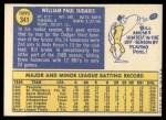 1970 Topps #341  Bill Sudakis  Back Thumbnail