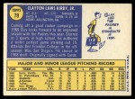 1970 Topps #79  Clay Kirby  Back Thumbnail