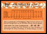 1988 Topps Traded #78 T Joe Orsulak  Back Thumbnail