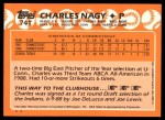1988 Topps Traded #74 T  -  Charles Nagy Team USA Back Thumbnail