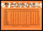1988 Topps Traded #28 T Jack Clark  Back Thumbnail