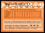 1988 Topps Traded #111 T Pete Smith  Back Thumbnail