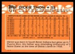 1988 Topps Traded #121 T Dickie Thon  Back Thumbnail
