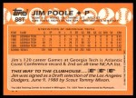 1988 Topps Traded #88 T  -  Jim Poole Team USA Back Thumbnail