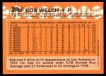 1988 Topps Traded #127 T Bob Welch  Back Thumbnail